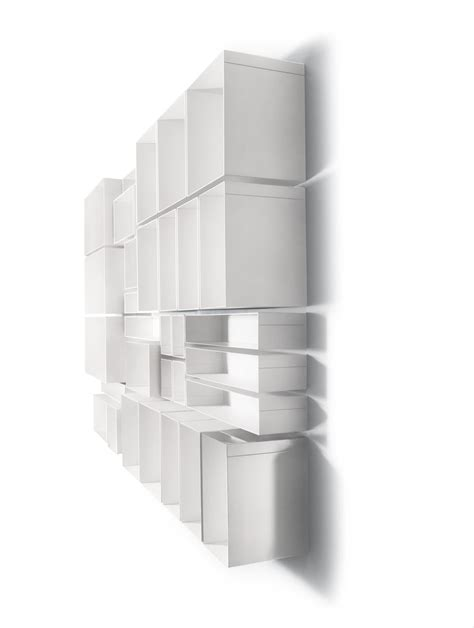 porta mensole in acciaio mensola cubo skatola componibile da parete in acciaio