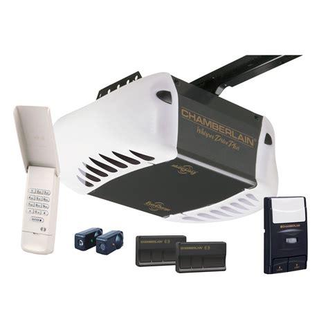 Power Drive Garage Door Opener Chamberlain 3 4 Hp Whisper Belt Drive Garage Door Opener With Evercharge Standby Power Wd962kd