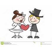 Couples Mignons De Mariage Dessin Anim&233 Photographie Stock  Image