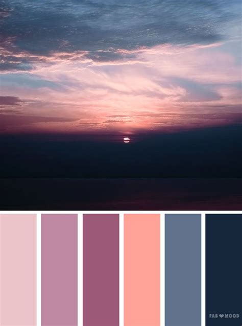 mauve color scheme grey mauve sunset inspired color palette colour