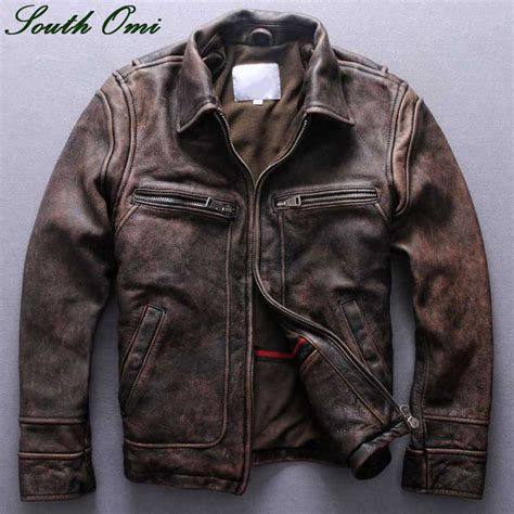 leather motorcycle coats mens distressed brown leather moto jacket search