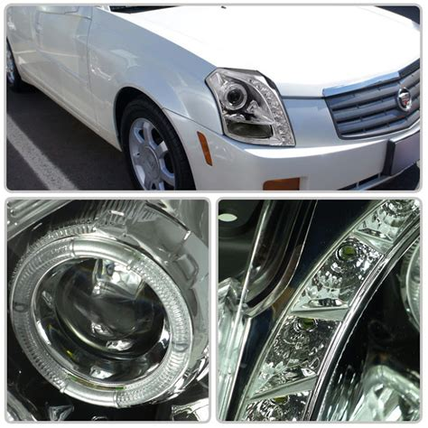 Cadillac Cts Halo Headlights by 03 07 Cadillac Cts Eye Halo Led Projector