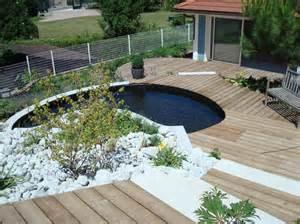 terrasse jardin en bois