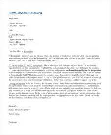 Formal Cover Letter Exles by Sle Formal Letter 13 Free Documents In Pdf Doc