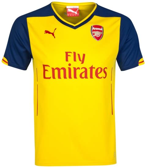 arsenal yellow jersey official new arsenal puma kits 2014 2015 afc home away