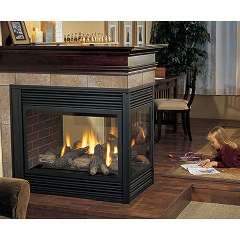 Four Sided Fireplace by P131 Three Sided Gas Fireplace Four Seasons Air