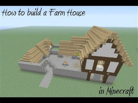 best way to build a house how to build a farm house in minecraft youtube