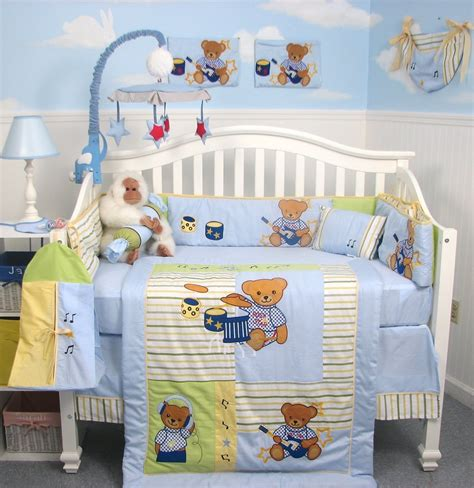 baby boy comforter sets teddy bear crib bedding sets home furniture design