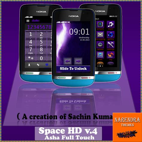 nokia asha hd themes narendra s themes space hd 4 asha full touch