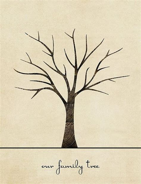 free tree printable family tree craft template ideas