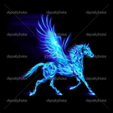 Blazinlady Images Depositphotos 33698821 Blue Fire Pegasus