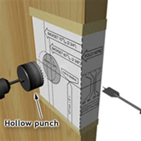 install an exterior door handle or lockset 1 rona