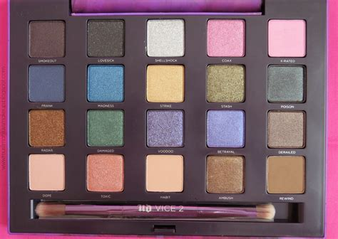 Urban Decay Vice 2 Eyeshadow Palette Review Swatches   muslimahluvsmakeup urban decay vice 2 eyeshadow palette