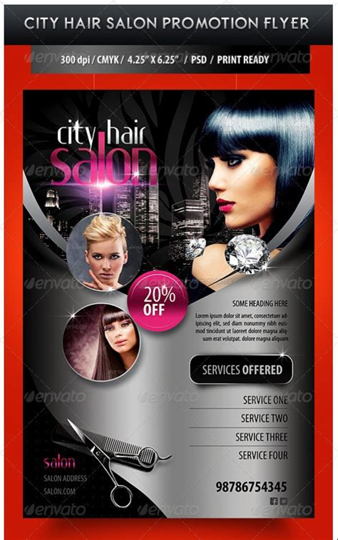 download hair salon 75 free flyer templates photoshop psd download pixel