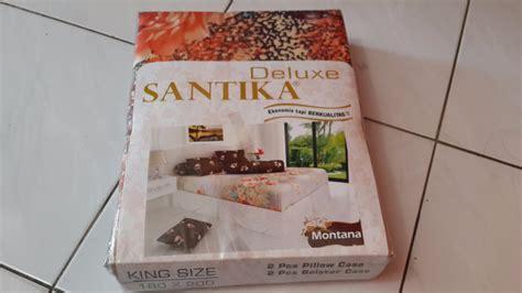 Sprei Santika Deluxe Barcelona 180x200 jual sprei santika deluxe montana 180x200cm karpet murah