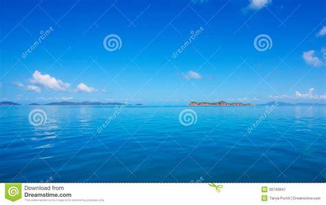 calming blue calm sea blue ocean sky and horizon royalty free stock