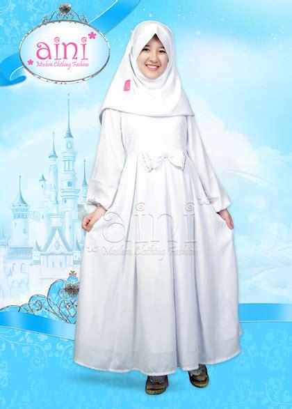 Gamis Putih Jumbo Baju Umroh Baju Manasik Baju Haji Busana Muslim gamis anak warna putih untuk lebaran idul adha 1437 h aini an 160903