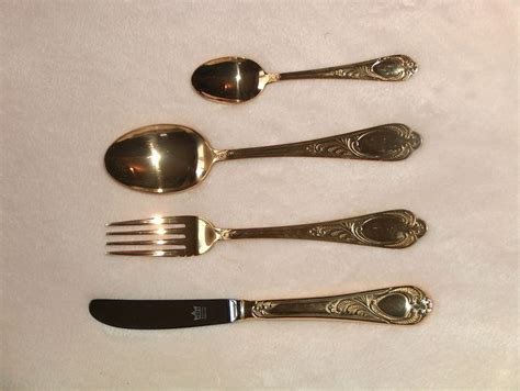 luxury cutlery luxury cutlery gold plated 23 24 carat gold 1990 catawiki