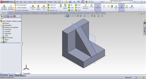 solidworks tutorial indent tutorial rib feature in solidworks grabcad