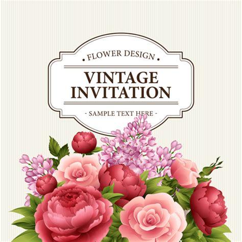 Vintage Invitation Card Design