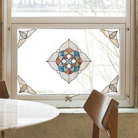 artscape window artscape 12 in x 12 in venice medallion decorative window 02 3713 the home depot