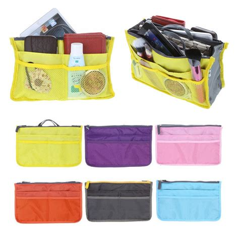 Bag Shelf Organizer by Portable Zipper Storage Bag Insert Organiser