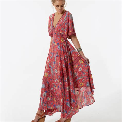 Top Five Print Maxi Dresses by Aliexpress Buy 2017 Vestido Flower Dress Retro