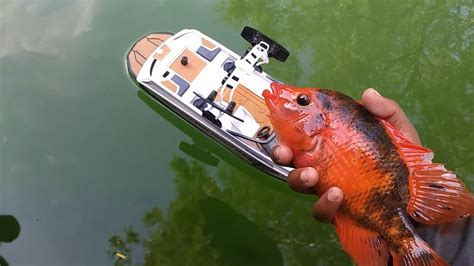 rc boats catching fish rc boat catches fish doovi