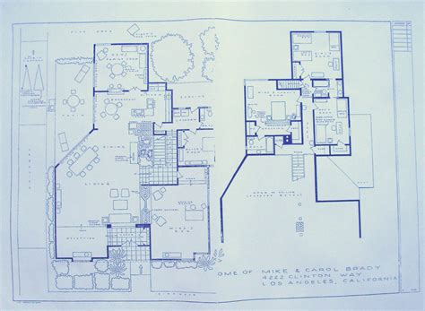 brady bunch house floor plan house from brady bunch tv show blueprint by blueprintplace on etsy