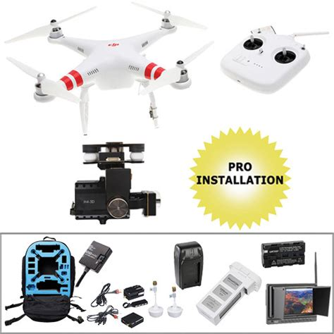 Dji Phantom 2 H4 3d dji phantom 2 bundle with h4 3d gimbal fpv monitor iosd and
