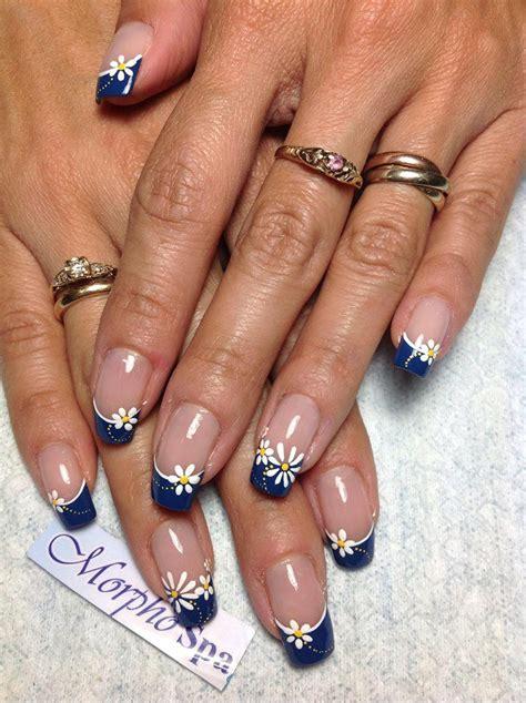 imagenes de uñas pintadas frances las 25 mejores ideas sobre gel azul de u 241 as en pinterest y