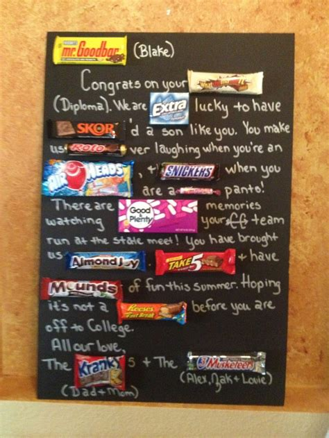 Candy Gift Card - blake s graduation candy card gift ideas just saying pinterest haha