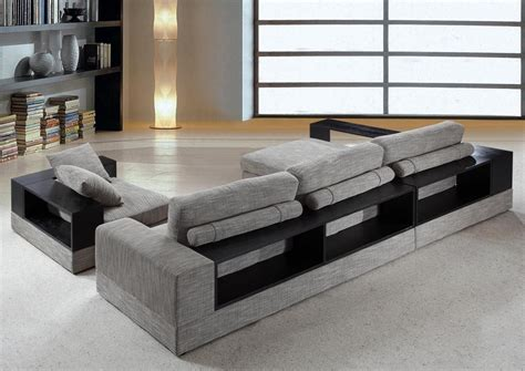 modern grey sectional anthem modern grey fabric sectional sofa w chair