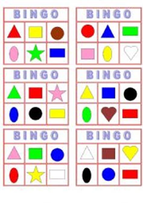 printable shapes bingo english worksheets color shape bingo