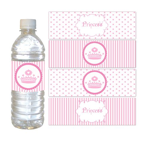 Baby Nutri Blue Mini Water Based Pomade By Oh princess bottle labels favor wrappers princess birthday