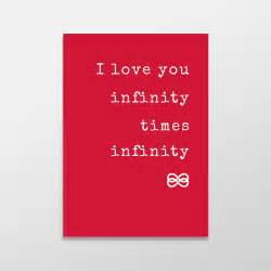 0 Times Infinity I You Infinity Times Infinity S Day Card