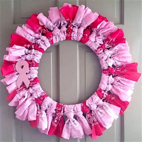 Breast Cancer Awareness Decorations by How To Make A Breast Cancer Awareness Wreath