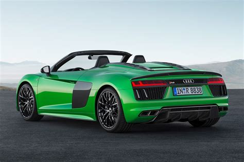 new audi r8 v10 plus the goes new audi r8 spyder v10 plus