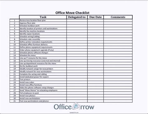 Office Move Checklist Template Excel Co Moving Spreadsheet Budget Exle Free Medium To House Moving Expenses Spreadsheet Template