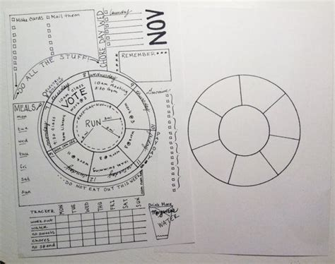 circular calendar template unique wheel calendar for bujo printable inserts bullet