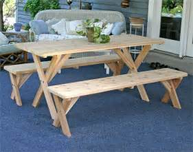 picnic tables and benches cedar picnic table with detached benches picnic table