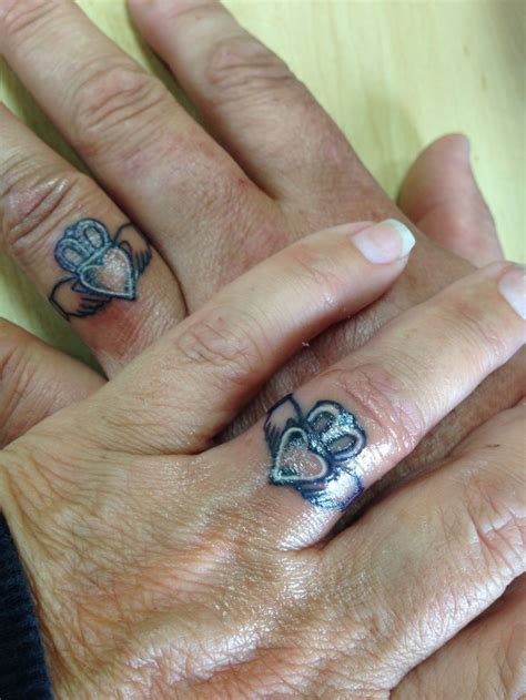 wedding tattoos on fingers ring tattoos on claddagh rings claddagh