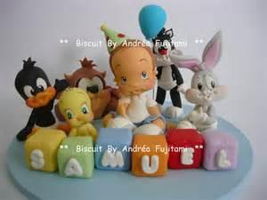 topo bolo looney tunes babies biscuit andr 233 fujitami elo7