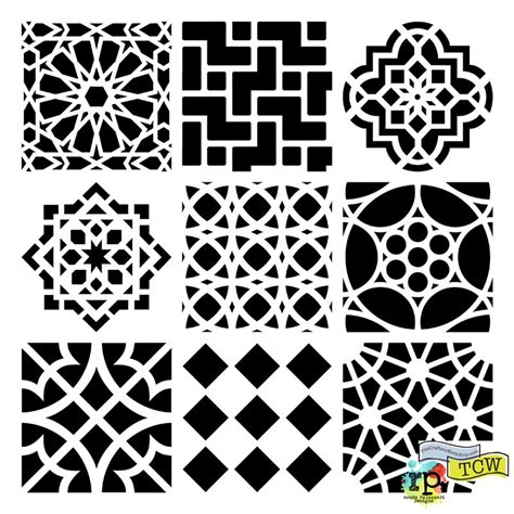 Summer 2013 Climbing Vine Moroccan Tiles The Crafter S Workshop Blog Stencil Template