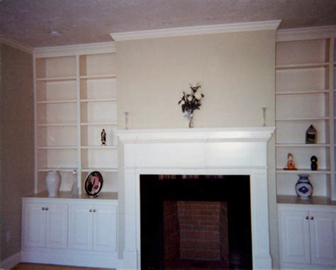 built in bookcase designs around fireplace woodworker