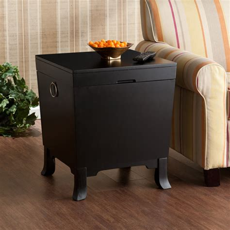 black end tables with storage claxton trunk storage end table black walmart com