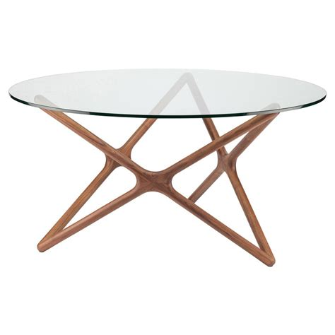 Glass Dining Table Modern Centauri Modern Glass Top Wood Mid Century Dining Table 40d Kathy Kuo Home