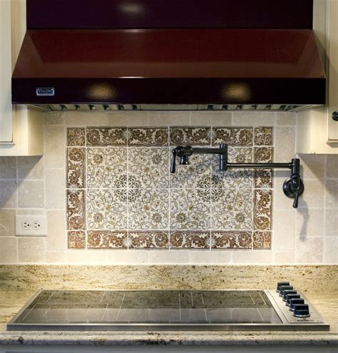 timeless backsplash timeless mural backsplash traditional kitchen chicago by carlson s flooring