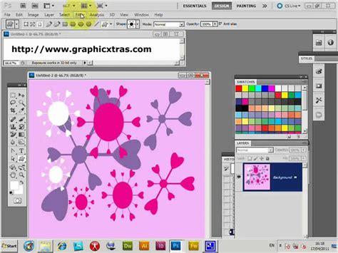 pattern maker photoshop cs4 photoshop custom shapes and creating patterns cs5 cs4 cs3
