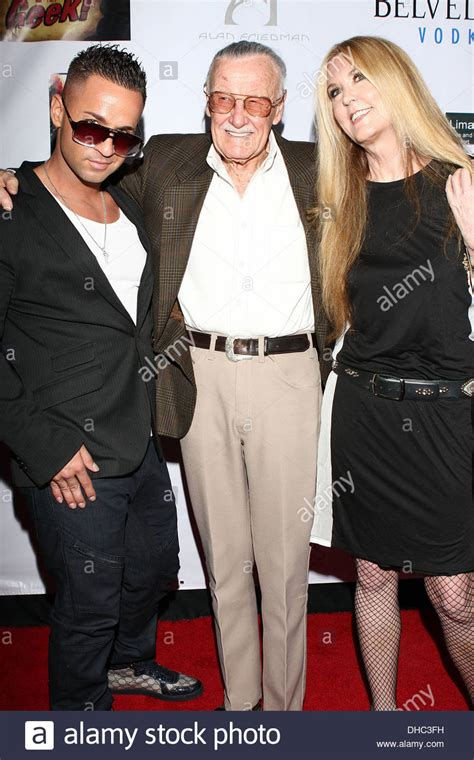 Lee C Stock Photos And | mike the situation sorrentino stan lee and j c lee